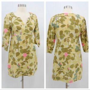 Boden Tunic Linen Floral Dress